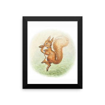 Squirrel Nutkin Framed Poster, Beatrix Potter Peter Rabbit Framed Art Print
