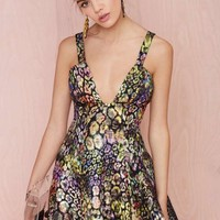 Nasty Gal Collection Great Escape Jacquard Dress