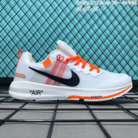 DCCK2 N183 OFF-White x Nike Air zoom Structure 21 Flyknit Breathable Running Shoes White Orange