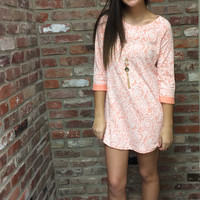Lovey Dovey Dress ~ Coral