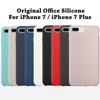 Original Copy Silicone Case For iPhone 7 8 X 6 6s 10 Mobile Phone Cover Luxury Cases For iPhone 8 7 Plus Silicon Coque Logo