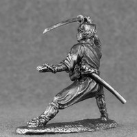 Medieval Toys Figures Japanese Ninja Samurai 54mm Tin Metal  2 1/4 Scale Miniature Action Figure Statuette Model