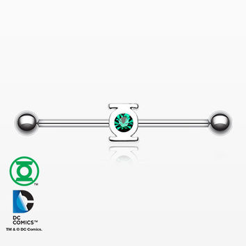 Green Lantern Sparkle Industrial Barbell