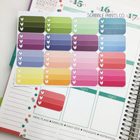 16 Heart Checklist Box Die-Cut Stickers // (Perfect for Erin Condren Life Planners)
