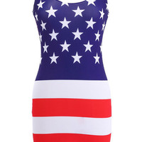 Horizontal American Flag Dress [NCSKYD0019] - $33.99 :