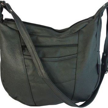 Texcyngoods Leather Concealed Weapon Handbag Hobo Left and Right Hand Access - Made in Mexico