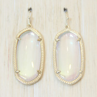 Kendra Scott Elle Earrings - Clear Iridescent