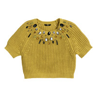 H&M - Chunky-knit Sweater - Yellow - Ladies