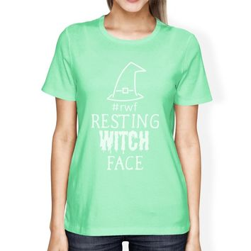Rwf Resting Witch Face Womens Mint Shirt