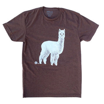 Men's T-Shirt - For Him - Alpaca T-Shirt for Men