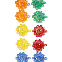 Crayon Colored Hair Clips