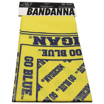 Spirit Products University of Michigan Yellow Bandanna