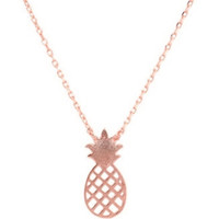 PINEAPPLE NECKLACE - ROSE GOLD