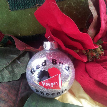 Personalized Cheerleading cheerleader cheer Christmas ornament personalized with Vinyl