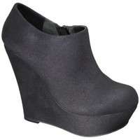 Women's Mossimo Black® Kenna Wedge Ankle Boot - Black