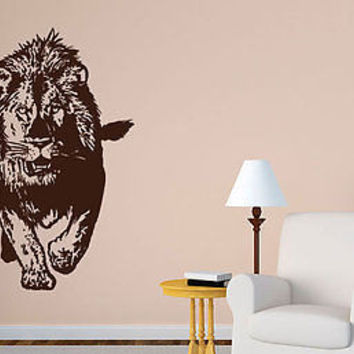 Lion King Of The Jungle Wild Cat Animals Wall Decal Art Vinyl Sticker tr670