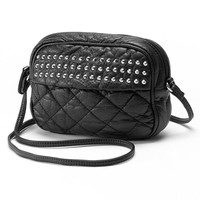 Candie's Brandy Quilted Stud Crossbody Bag