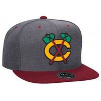Charcoal Dune High Crown FittedChicago Blackhawks | Mitchell & Ness