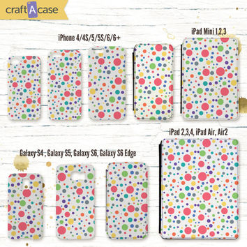 Cute multicolour polka dots case pink lime iPhone 6 6 Plus iPhone 5 5C 5S Samsung Galaxy S6 S5 S4 | iPad 2 3 4 Air Air 2 iPad mini 1 2 3