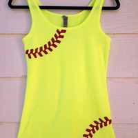 Rhinestone Softball Mom Shirt - Tank Top