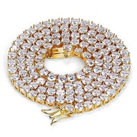 6mm Diamond Iced Out Tennis Necklace
