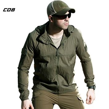CQB Outdoor Camping Sports Summer Sun-Protection Clothes Breathable Windproof Men's Jacket Water-Repellent Quick-Drying Coat