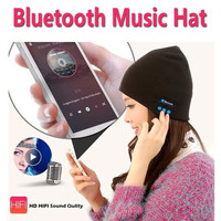 Wireless Bluetooth Knit Hat Music Cap Hands-free Phone Call Answer Ears-free Beanie Hat Compatible with Mobile Phones, iPhone, iPad, Laptops, Tablets, Smartphones = 1958007300