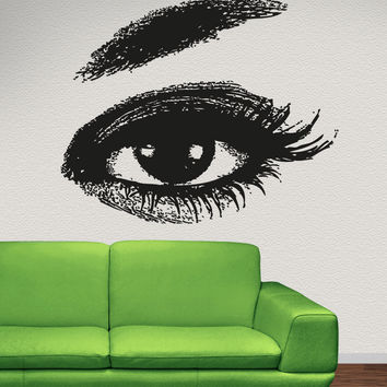 Vinyl Wall Decal Sticker Realistic Lady Eye #5259