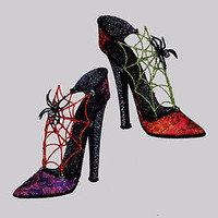 "Katherine's Collection Rare 12"" Halloween Witch Spider Heels Set Wayne Kleski"