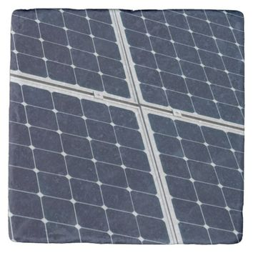 Solar power panel stone coaster