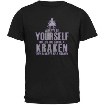 ONETOW Always Be Yourself Kraken Black Youth T-Shirt