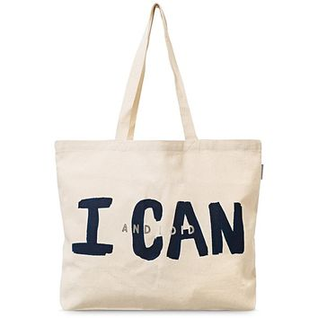 Gold I Can and I Did Shopper Bag | Oliver Bonas