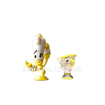 New Beauty & Beast Princess Friends Cup Candle Holders Toy Anime Action Figure Cosplay Dolls Kids Birthday Gifts Children Toys