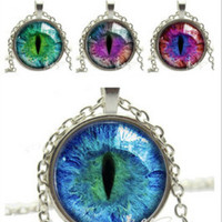 Cat Eyes-Glass Pendant Necklace
