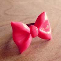 Pretty Pink Bow Ring - Country Mermaids