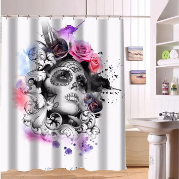 "hot sale a variety of colors, elephants, skull and pointer Bathroom Decoration Shower Curtain  Print 60"" x 72 free shipping"