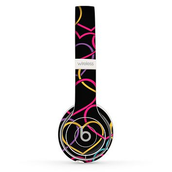 The Colorful Vector Hearts Skin Set for the Beats by Dre Solo 2 Wireless Headphones