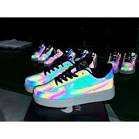 Nike Air Force men and women models chameleon casual wild shoes Low-top shoes