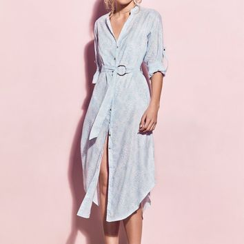 Matea Designs ERMA Light Blue Shirt Dress | Pre-order dispatch 11th Dec