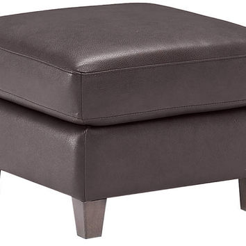 Color Customizable Leather Ottoman Liro by Natuzzi Editions