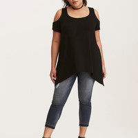 Modal Cold Shoulder Tunic Top