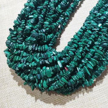 High Quality Natural Gemstone Chips Malachite Beads for Bracelet and Jewelry Making Really Stone Loose Beads
