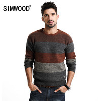 New Autumn Winter warm sweater men long sleeve 66%  wool pullovers fashion clothing