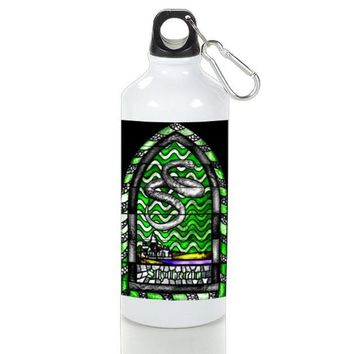 Gift Sport Bottles | Slytherin Stained Glasses On Hog Warts School Aluminum Sport Bottles