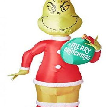 11 ft Giant Airblown Dr Seuss Christmas Yard Lawn Decor, Inflatable Santa Grinch,  Gift