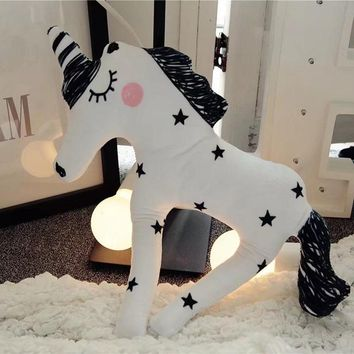 38*30cm Plush Pillows Plush Unicorn Horse Toys Kids Soft Stuffed Figure Toy Hot Toy for Children Boys Girls Gift Free Shipping