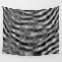 plaid hypnosis Wall Tapestry by RichCaspian