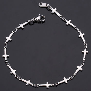 Womans Titanium Stainless Steel With 316 Stamp Bracelet