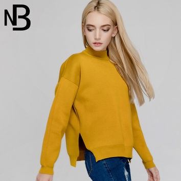 Fall Fashion Knit Cotton Pullover Long Sleeve Tops [6446691908]