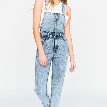 Afends Elliott - Overalls - Blue Acid